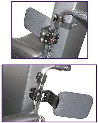Wheelchair Positioning Cane Mounted Swingaway Lateral Trunk Support Kit