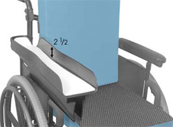 Wheelchair Positioning Economy Arm Trough