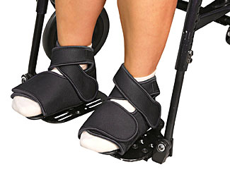 Wheelchair Positioning FlexSure Feet and Optional Padded Inserts
