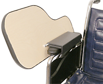 Padded Wheelchair Half Tray With Adjustable Height Bracket