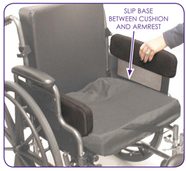 Wheelchair Positioning No-Mount Hip Guide