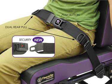 Wheelchair Positioning TheraFit Premium Rear Pull Hip Belts