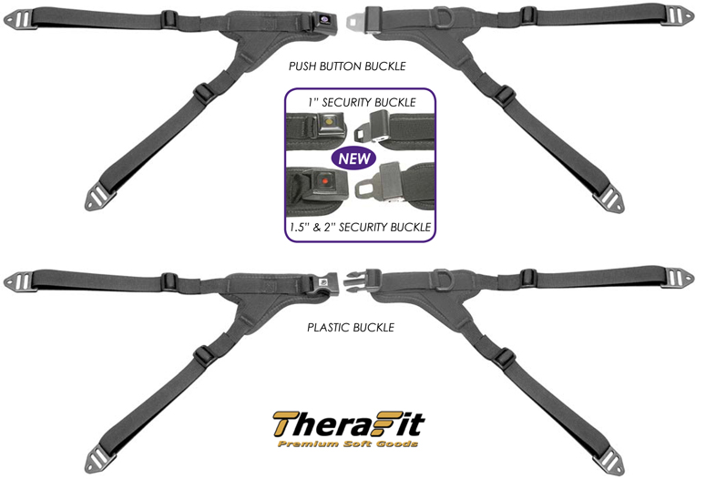 Wheelchair Positioning TheraFit Premium Four Point Y-Style Hip Belts