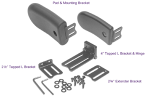 Wheelchair Positioning Swingaway Lateral Trunk Support Kit