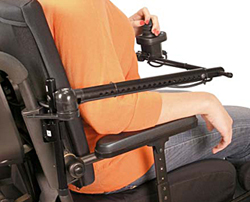 Wheelchair Control Midline Swingaway System Components