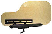 Wood Half Trays with pre-installed hardware that fits Permobil 3G Armrests