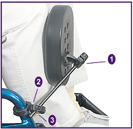Wheelchair Positioning Knee Adductor Assembly