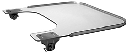 Clear Wheelchair Tray With Aluminum Rim & E-Z Lock Clamps