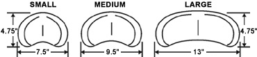 Wheelchair Positioning Soft Headrest Pad sizes