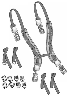 Wheelchair Positioning X-Harness